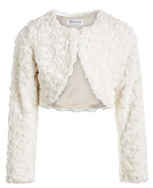 Bonnie Jean Toddler Girls Cropped Faux-Fur Cardigan