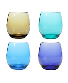 Plastic Bpa Free Stemless, Set of 4