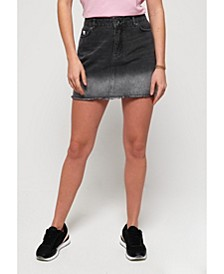 Denim Micro Mini Skirt