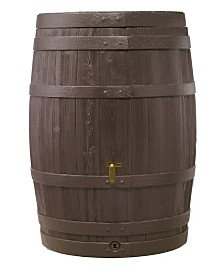 Exaco Trading Large Vino Style Rain Barrel with Fast Flow Tap - 110 Gallon