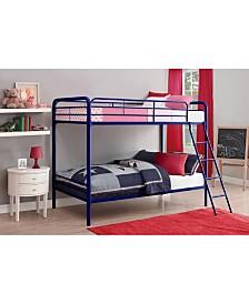 EveryRoom Eeva Twin over Twin Metal Bunk Bed