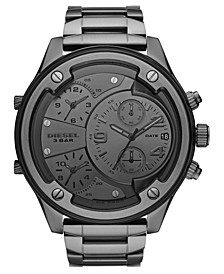 Men's Boltdown Gunmetal Stainless Steel Bracelet Watch 56mm