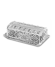 Danish Crystal Butter Dish with Antique Design