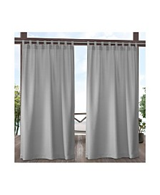 Exclusive Home Curtains Indoor/Outdoor Solid Cabana Tab Top Curtain Panel Pair