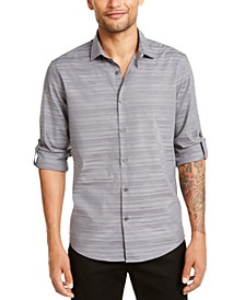Men's Linear Dobby Shirt, Created for Macy's