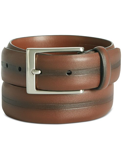 Perry Ellis Men's Colorblocked Belt