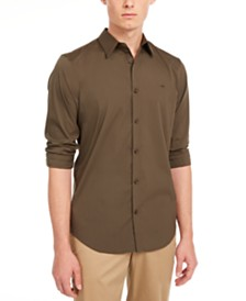 Calvin Klein Men's Slim-Fit Stretch Solid Shirt