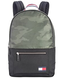 Tommy Hilfiger Men's Carter Camo Colorblocked Backpack