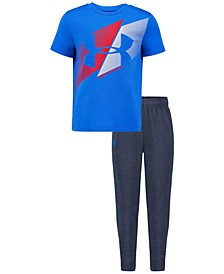 Little Boys 2-Pc. Slash Icon T-Shirt & Pants Set