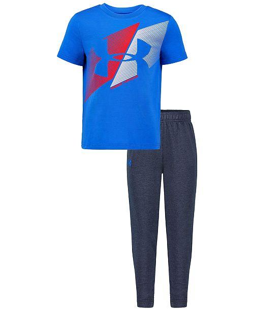 Under Armour Little Boys 2-Pc. Slash Icon T-Shirt & Pants Set