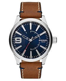 Diesel Men's Rasp NSBB Brown Leather Strap Watch 46mm