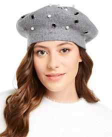 August Hats Grommet Pearl Melton Beret