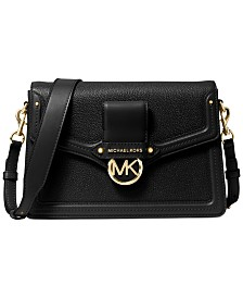 Michael Michael Kors Jessie Flap Leather Shoulder Bag