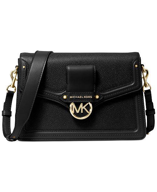 Michael Kors Jessie Flap Leather Shoulder Bag & Reviews