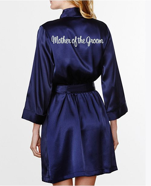 Wedding Prep Gals Plus Size Embroidered 'Mother of the Groom' Robe, Online Only