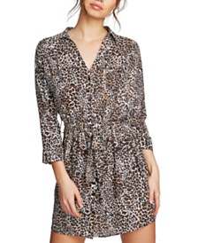 1.STATE Juniors' Animal-Print Mini Dress