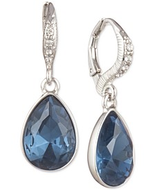 Crystal Pear-Shaped Drop Earrings