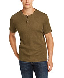 Men's Waffle-Knit Henley, Created for Macy's