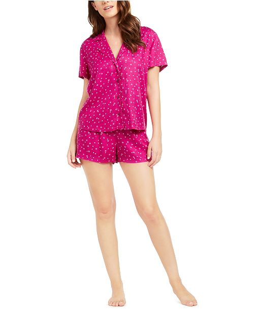 Jenni 2-Pc. Printed Top & Shorts Pajama Set, Created for Macy's