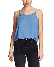 Chiffon-Trimmed Cami Top