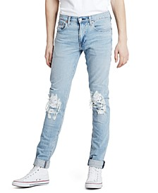 Men's Lo-Ball Slim-Fit Ripped Sneaker Jeans