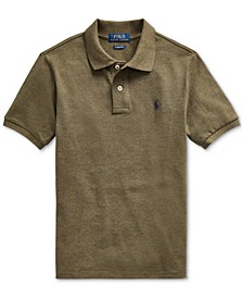 Big Boys Basic Mesh Knit Polo Shirt