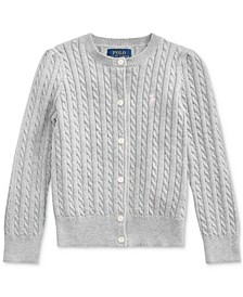 Little Girls Combed Cotton Cardigan