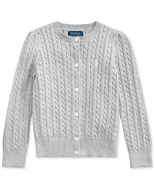 Polo Ralph Lauren Little Girls Combed Cotton Cardigan