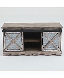 "Sliding Doors Wood 39.4"" Entry Cabinet"