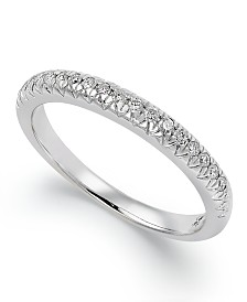 X3 Certified Diamond Wedding Band Ring in 18k White Gold (1/4 ct. t.w.)