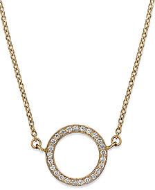 Diamond Open Circle Pendant Necklace in (1/6 ct. t.w.)
