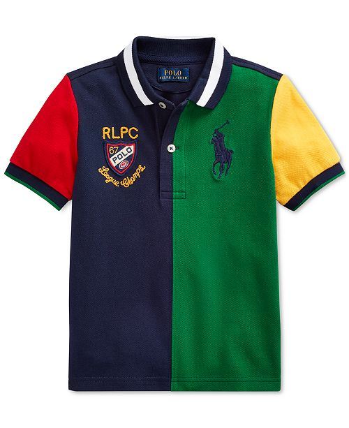 Polo Ralph Lauren Little Boys Color-Blocked Cotton Mesh Polo Shirt