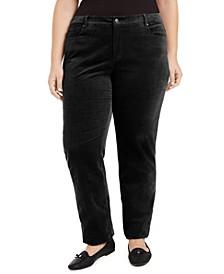 Plus Size Lexington Tummy-Control Corduroy Jeans, Created for Macy's
