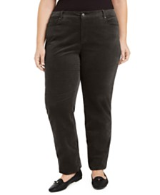 Charter Club Plus Size Tummy-Control Corduroy Jeans, Created for Macy's