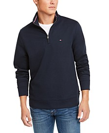 Men's Big & Tall French Rib Quarter-Zip Sweater, Created for Macy's