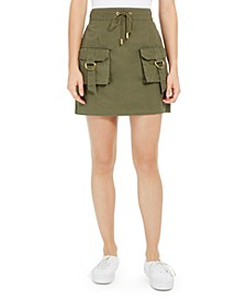 Juniors' Cotton Cargo Skirt