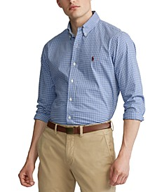 Men's Slim Fit Poplin Button Down Shirt