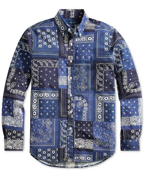 Polo Ralph Lauren Men's Classic Fit Bandanna Shirt