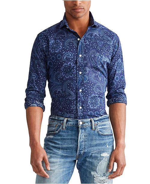Polo Ralph Lauren Men's Slim Fit Paisley-Print Shirt
