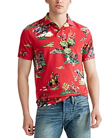 Men's Classic Fit Tropical-Print Polo Shirt