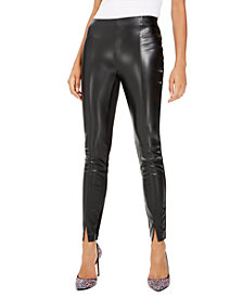 Bar III Faux-Leather Leggings, Created For Macy's
