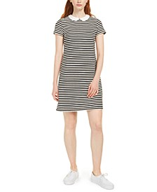 Collared Striped T-Shirt Dress, Created for Macy's