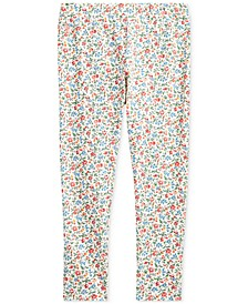 Little Girls Stretch Floral Leggings