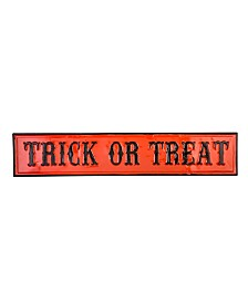 Glitzhome Enameled Metal Trick or Treat Wall Sign