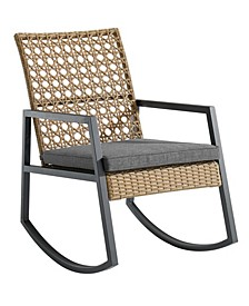 Modern Patio Rattan Rocking Chair