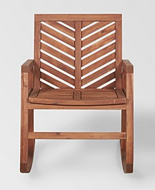 Outdoor Chevron Rocking Chair