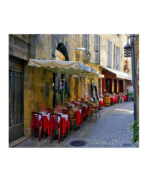 """CHRISTOPHER KNIGHT COLLECTION - Bistro Alley Canvas Art, 36"""" x 27"""""""