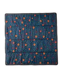 Midnight Poppy 5x5 Outdoor Blanket