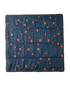 Little Unicorn Midnight Poppy 5x5 Outdoor Blanket