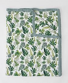 Tropical Leaf Cotton Muslin Big Kid Quilt